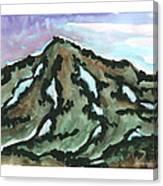 Snow Patches Canvas Print