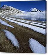 Snow Patterns Near Blue Lake Mt Canvas Print