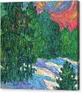 Snow Pines Canvas Print