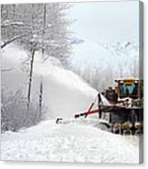 Snow Plow Canvas Print