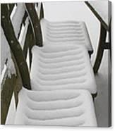 Snow Seat Canvas Print