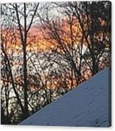 Snow Sunset Canvas Print