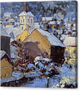 Snow Village Canvas Print