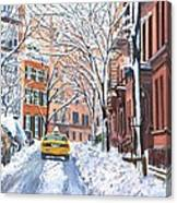 Snow West Village New York City Canvas Print