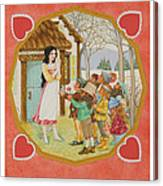 Snow White And The Seven Dwarfs Canvas Print