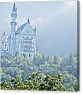 Snow White's Palace In Morning Mist Canvas Print