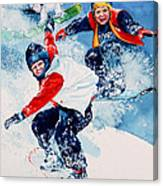 Snowboard Super Heroes Canvas Print