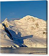 Snowcapped Mountain, Andvord Bay Canvas Print