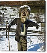 Snowcapped Scarecrow Canvas Print