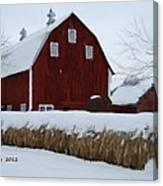 Snowed In Barn Canvas Print