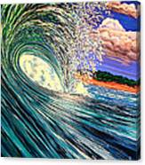 Snowed In Tropics Style Canvas Print