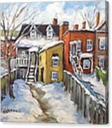 Snowed In Yards By Prankearts Canvas Print