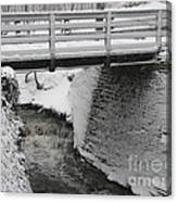 Snowfall Bridge Canvas Print