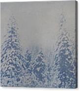 Snowfall in Blue Canvas Print