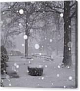 Snowfall On Ayers Canvas Print