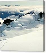 Snowfield Below Canvas Print