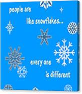 Snowflakes 5 Canvas Print