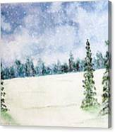 Snowing In Christmas Canvas Print