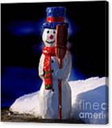 Snowman By George Wood Canvas Print