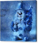 Snowman Christmas Cheer Photo Art 01 Canvas Print