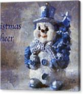 Snowman Christmas Cheer Photo Art 02 Canvas Print