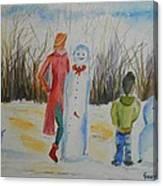 Snowman Competition Canvas Print