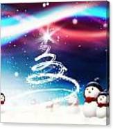 Snowman New Year Canvas Print