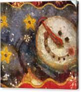 Snowman Photo Art 07 Canvas Print