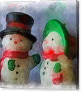 Snowman Photo Art 09 Canvas Print