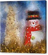 Snowman Photo Art 14 Canvas Print