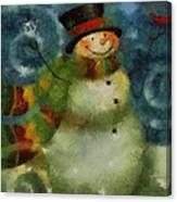 Snowman Photo Art 16 Canvas Print