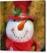 Snowman Photo Art 19 Canvas Print