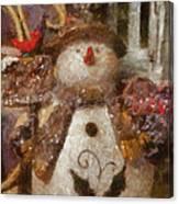 Snowman Photo Art 30 Canvas Print