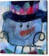 Snowman Photo Art 34 Canvas Print