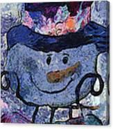 Snowman Photo Art 35 Canvas Print