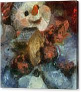 Snowman Photo Art 47 Canvas Print