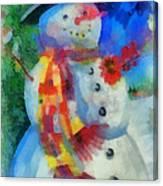 Snowman Photo Art 53 Canvas Print