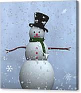 Snowman... Canvas Print