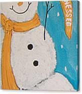 Snowman University Of Tennessee Canvas Print