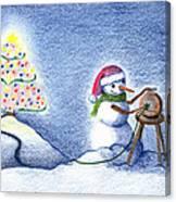 Snowman's X'mas Canvas Print