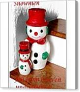 Snowmen - Greetings - Happy Holidays Canvas Print