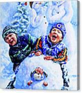 Snowmen Canvas Print