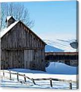 Snowy Barn Canvas Print