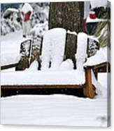 Snowy Bench Canvas Print
