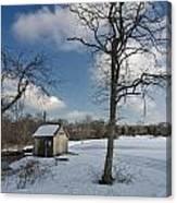 Snowy Bog House Canvas Print