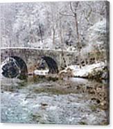 Snowy Bridge Along The Wissahickon Canvas Print