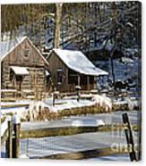 Snowy Cabins Canvas Print