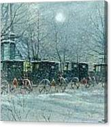 Snowy Carriages Canvas Print