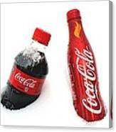 Snowy Coca - Cola Canvas Print