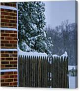 Snowy Corner Canvas Print
